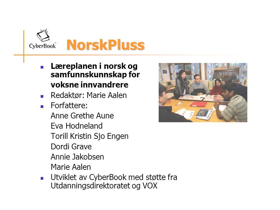 NorskPluss Læreplanen i norsk og samfunnskunnskap for