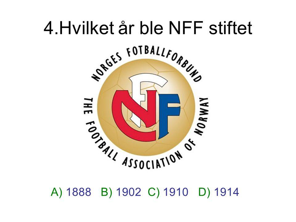 4.Hvilket år ble NFF stiftet