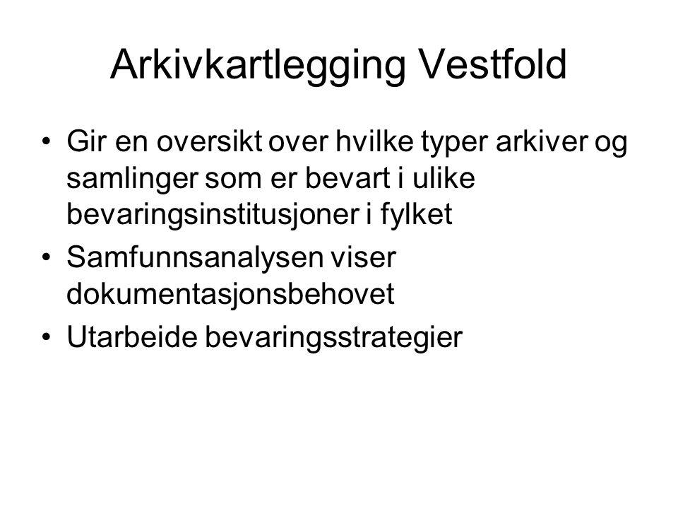 Arkivkartlegging Vestfold
