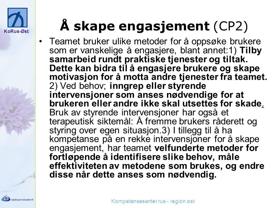 Å skape engasjement (CP2)