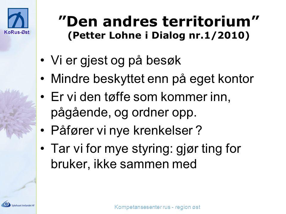 Den andres territorium (Petter Lohne i Dialog nr.1/2010)