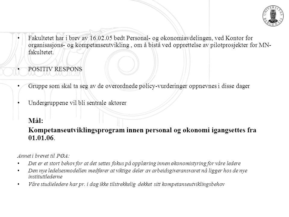 Fakultetet har i brev av 16. 02
