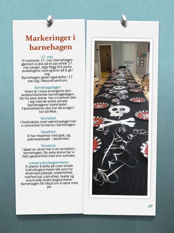 Markeringer i barnehagen