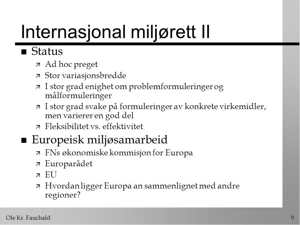 Internasjonal miljørett II