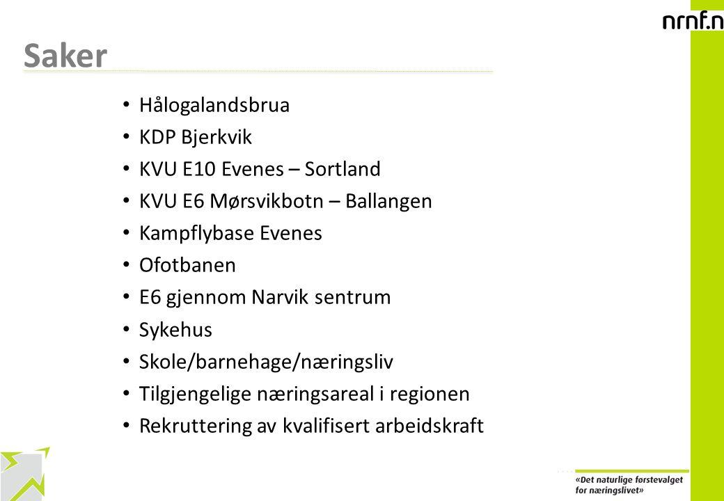 Saker Hålogalandsbrua KDP Bjerkvik KVU E10 Evenes – Sortland