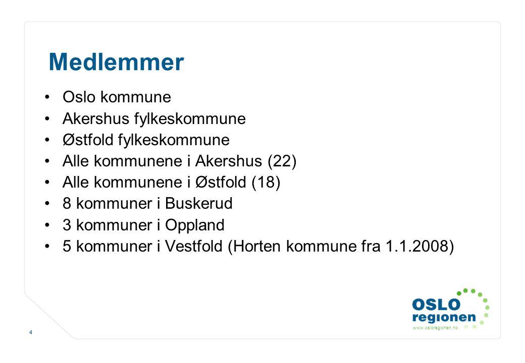 Medlemmer Oslo kommune Akershus fylkeskommune Østfold fylkeskommune