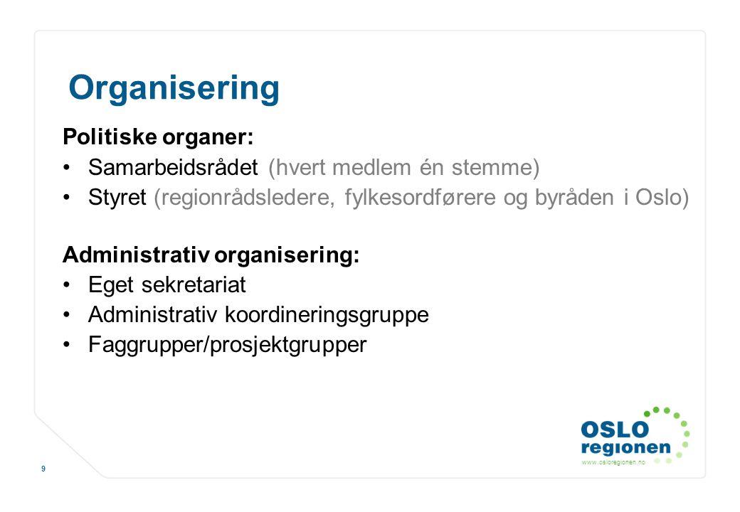 Organisering Politiske organer:
