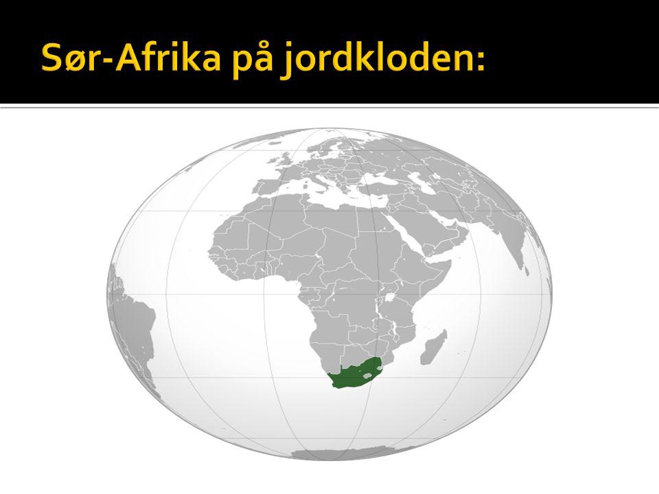 Sør-Afrika på jordkloden: