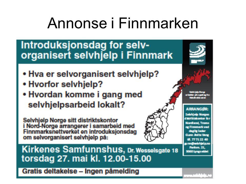 Annonse i Finnmarken