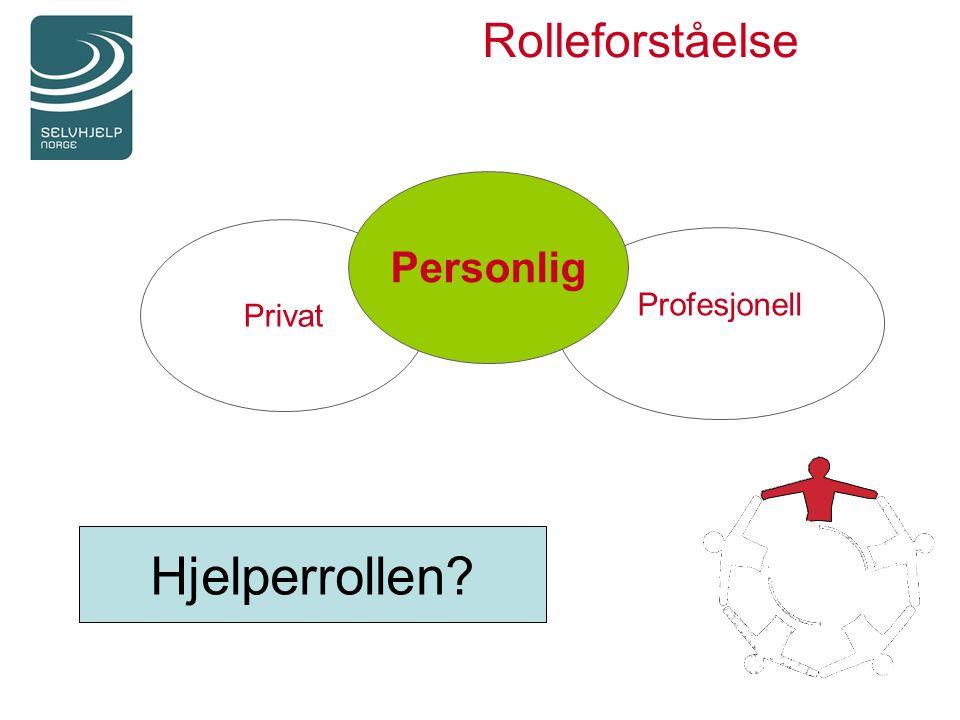 Rolleforståelse Privat Profesjonell Personlig Hjelperrollen