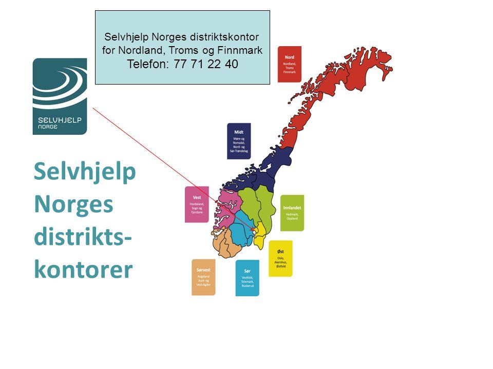 Selvhjelp Norges distrikts-kontorer