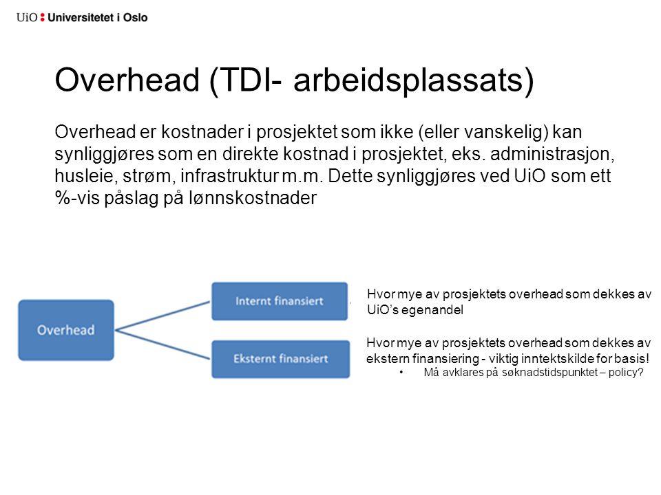 Overhead (TDI- arbeidsplassats)
