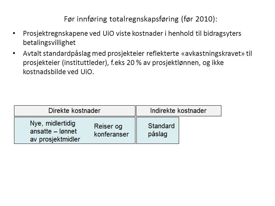 Før innføring totalregnskapsføring (før 2010):