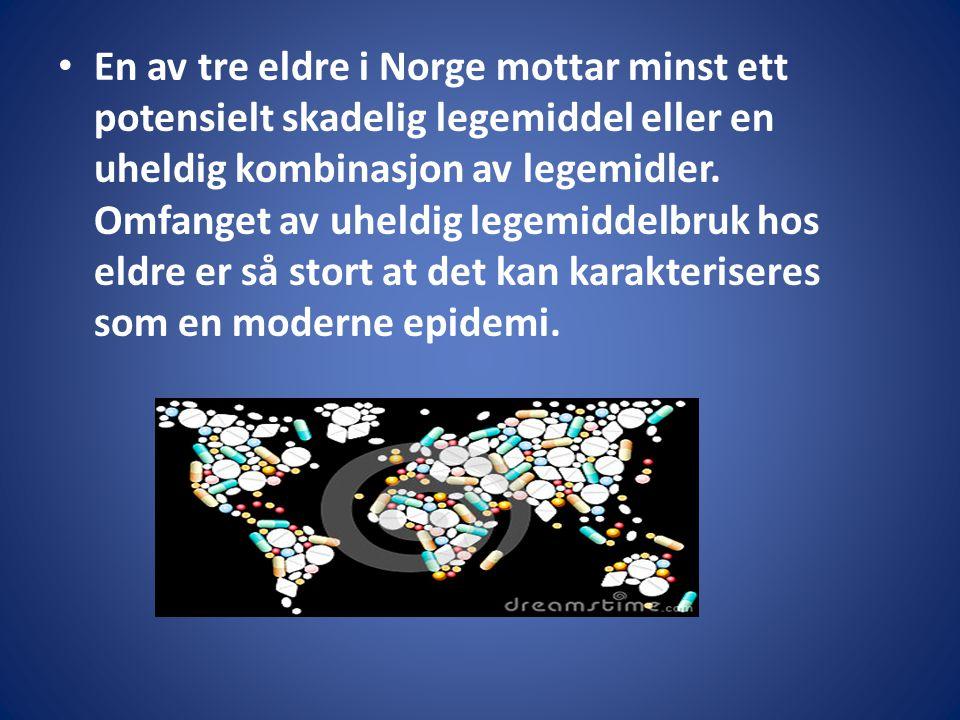 En av tre eldre i Norge mottar minst ett potensielt skadelig legemiddel eller en uheldig kombinasjon av legemidler.