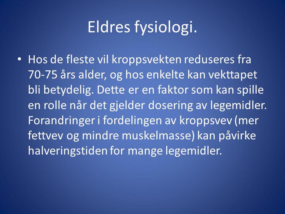 Eldres fysiologi.