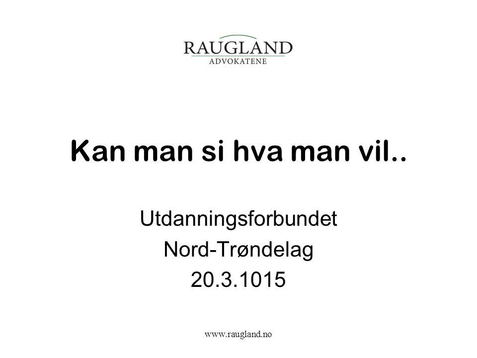 Utdanningsforbundet Nord-Trøndelag 20.3.1015