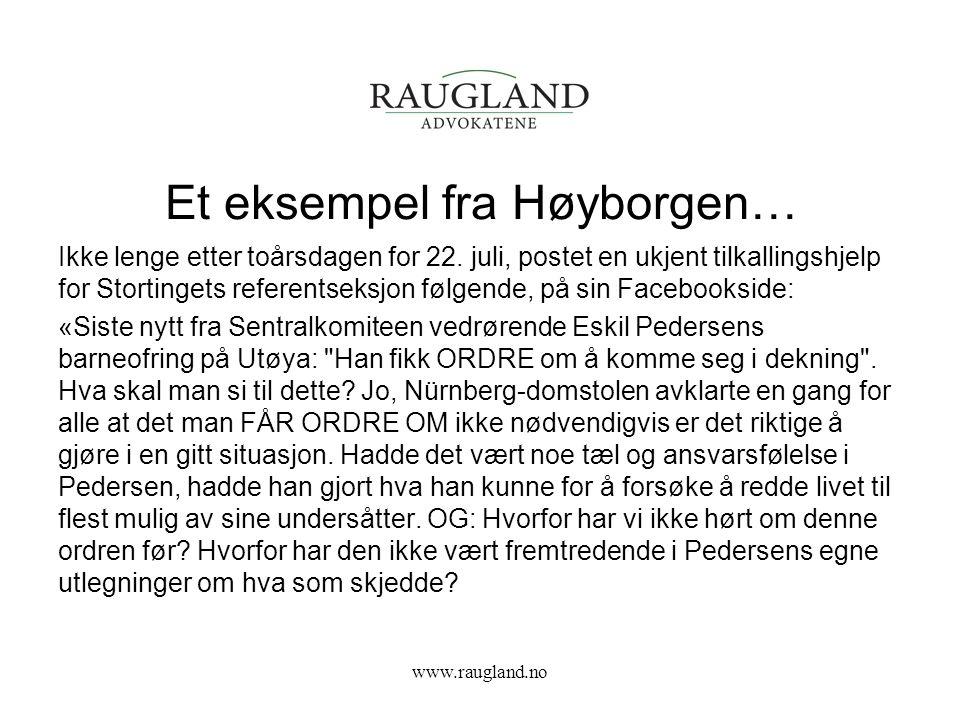 Et eksempel fra Høyborgen…