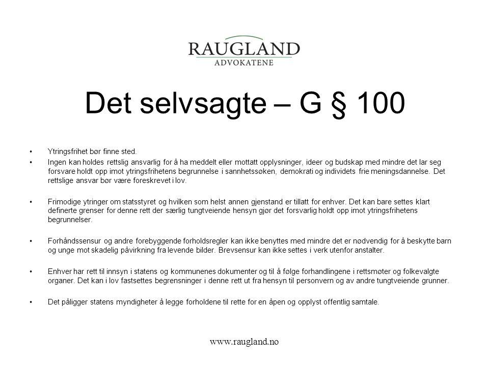 Det selvsagte – G § 100 www.raugland.no