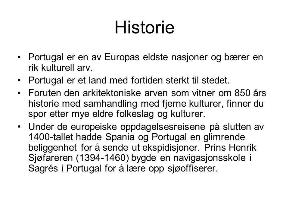 Historie Portugal er en av Europas eldste nasjoner og bærer en rik kulturell arv. Portugal er et land med fortiden sterkt til stedet.