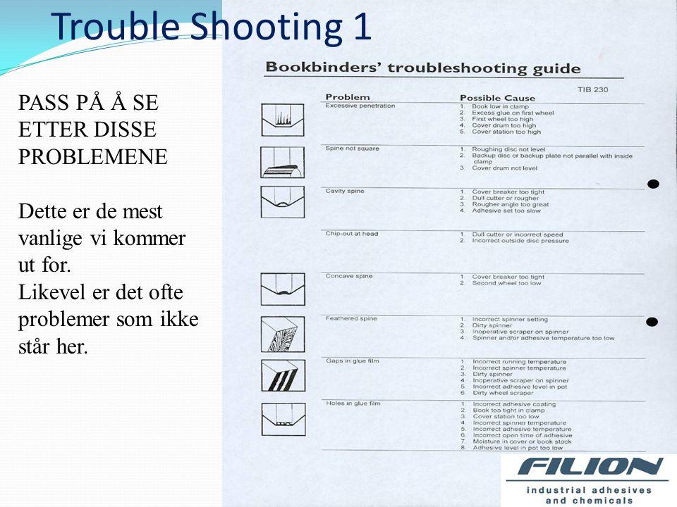 Trouble Shooting 1 PASS PÅ Å SE ETTER DISSE PROBLEMENE