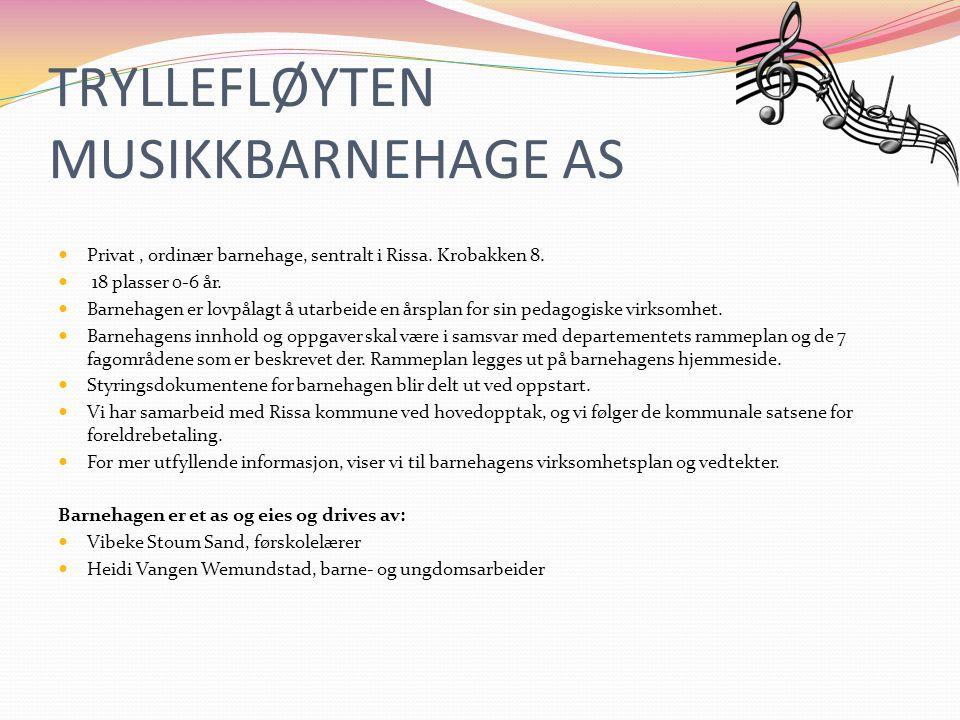 TRYLLEFLØYTEN MUSIKKBARNEHAGE AS