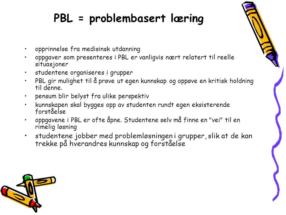 PBL = problembasert læring