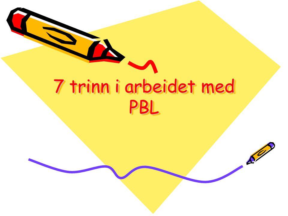7 trinn i arbeidet med PBL