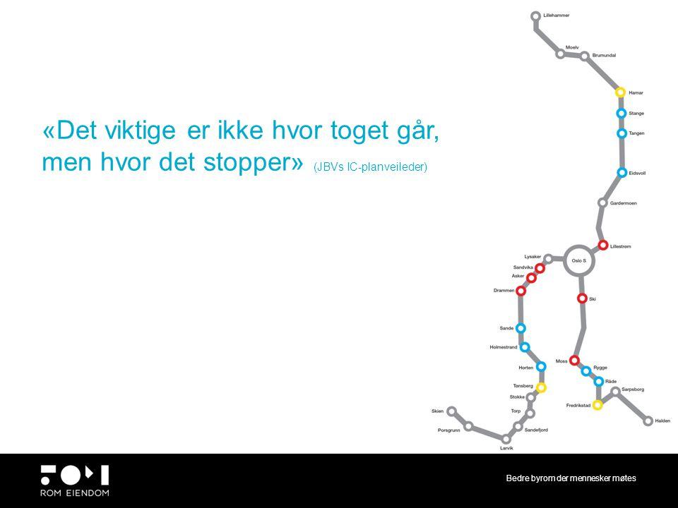 «Det viktige er ikke hvor toget går, men hvor det stopper» (JBVs IC-planveileder)