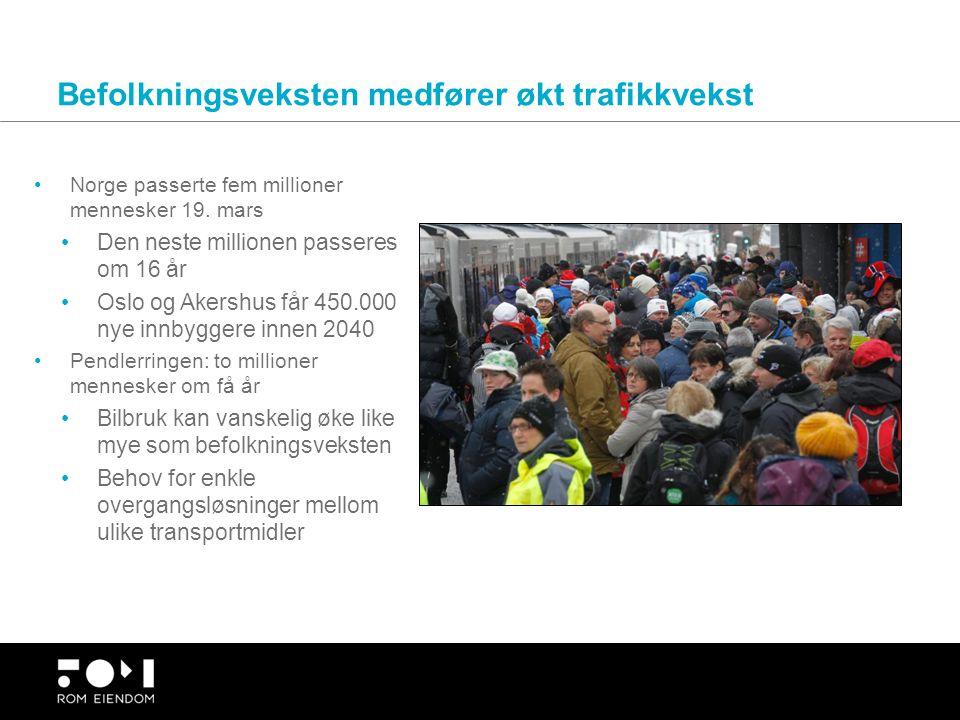Befolkningsveksten medfører økt trafikkvekst