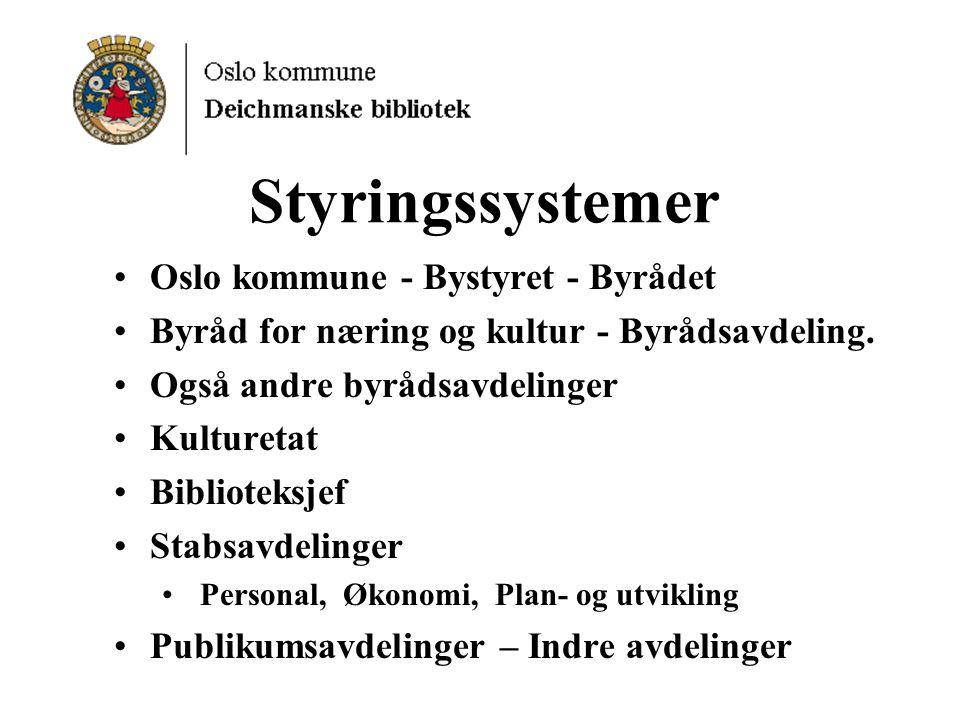 Styringssystemer Oslo kommune - Bystyret - Byrådet