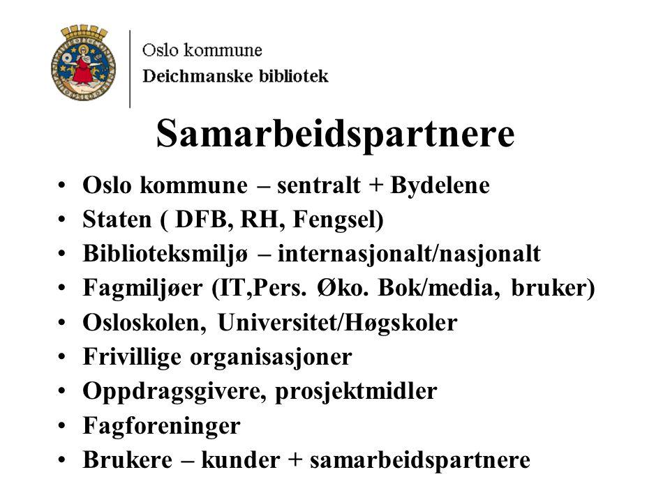 Samarbeidspartnere Oslo kommune – sentralt + Bydelene