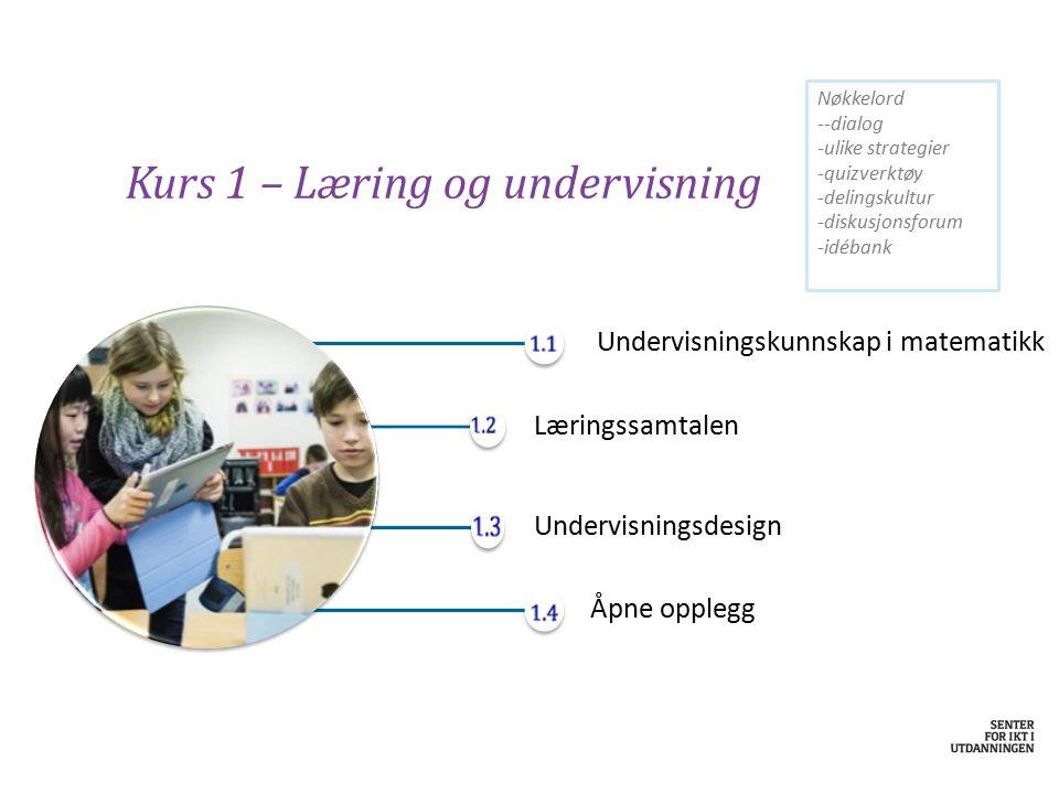 Kurs 1 – Læring og undervisning