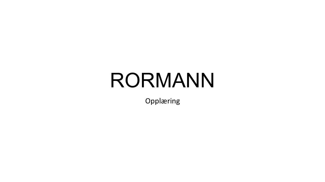RORMANN Opplæring
