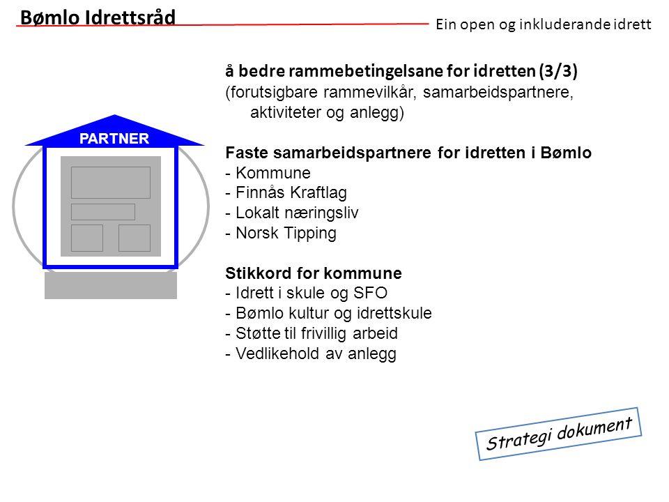 Bømlo Idrettsråd å bedre rammebetingelsane for idretten (3/3)