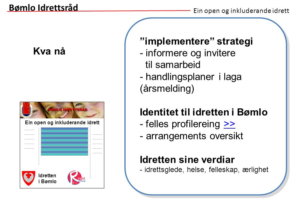 implementere strategi - informere og invitere til samarbeid