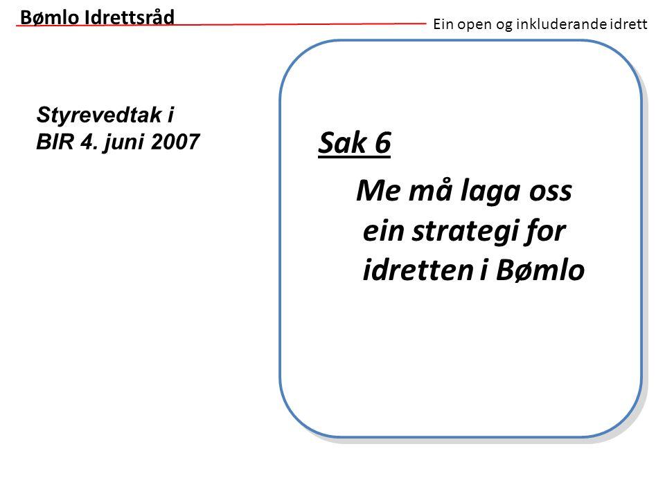 Me må laga oss ein strategi for idretten i Bømlo