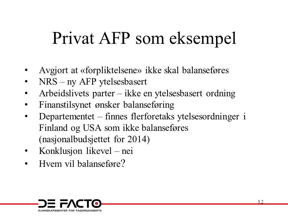 Privat AFP som eksempel