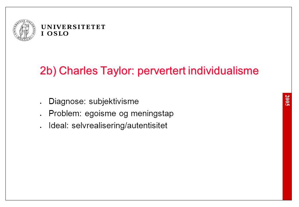 1. Samtidsdiagnoser Helhet Kritikk Empirisk forankret