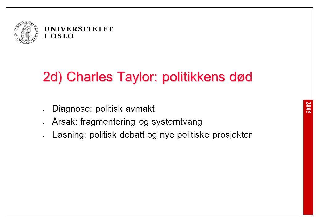 2b) Charles Taylor: pervertert individualisme
