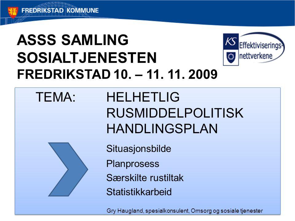ASSS SAMLING SOSIALTJENESTEN FREDRIKSTAD 10. – 11. 11. 2009