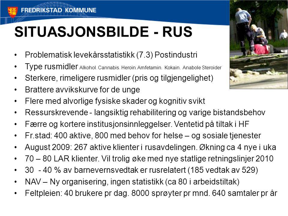 SITUASJONSBILDE - RUS Problematisk levekårsstatistikk (7.3) Postindustri.