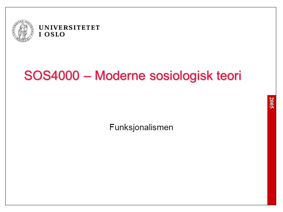 SOS4000 – Moderne sosiologisk teori