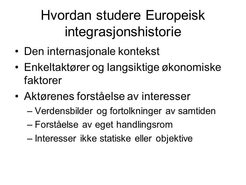 Hvordan studere Europeisk integrasjonshistorie