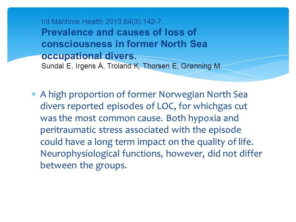 Int Maritime Health 2013;64(3):142-7.