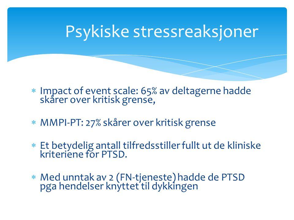 Psykiske stressreaksjoner