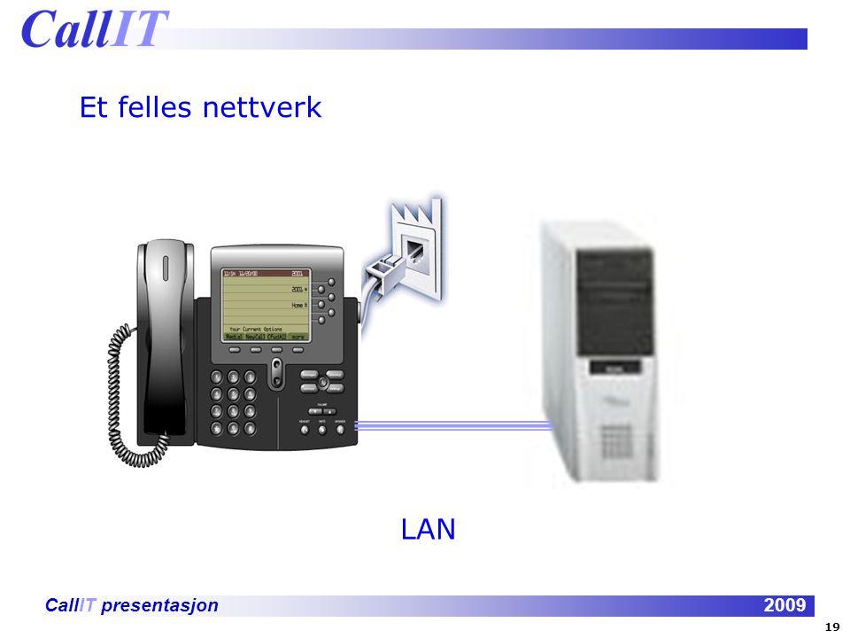 Et felles nettverk LAN 19