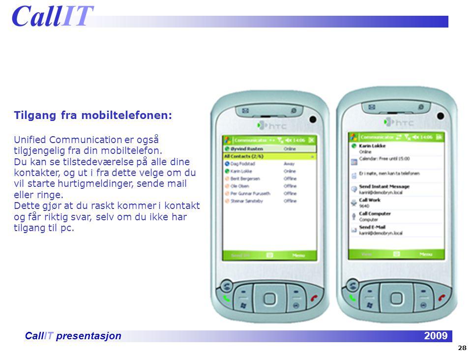Tilgang fra mobiltelefonen:
