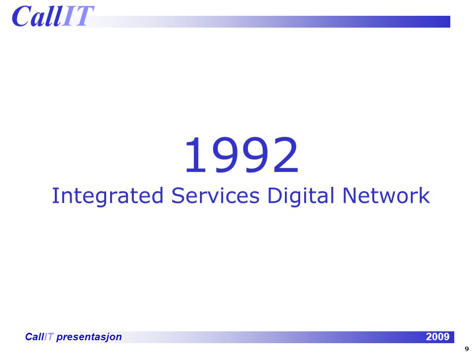 1992 Integrated Services Digital Network