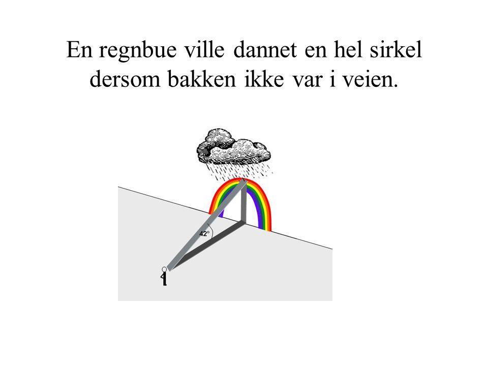 En regnbue ville dannet en hel sirkel dersom bakken ikke var i veien.