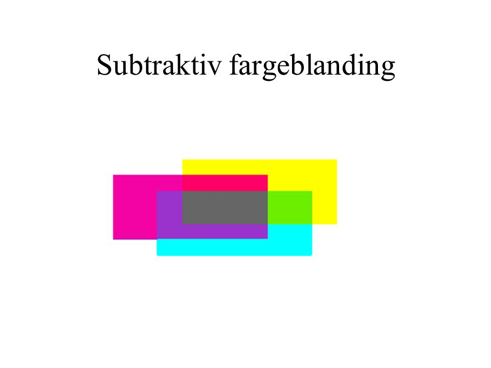 Subtraktiv fargeblanding